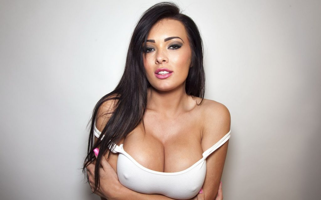 Amazing Brunette With Big Boobs